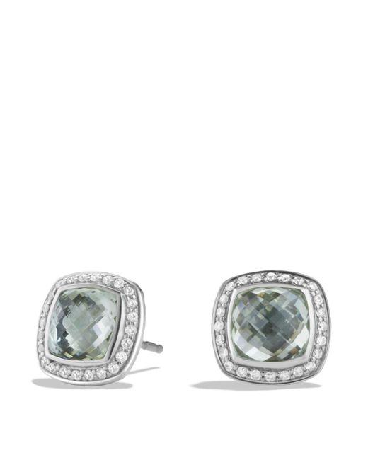 David Yurman | Green Albion Earrings With Prasiolite And Diamonds | Lyst