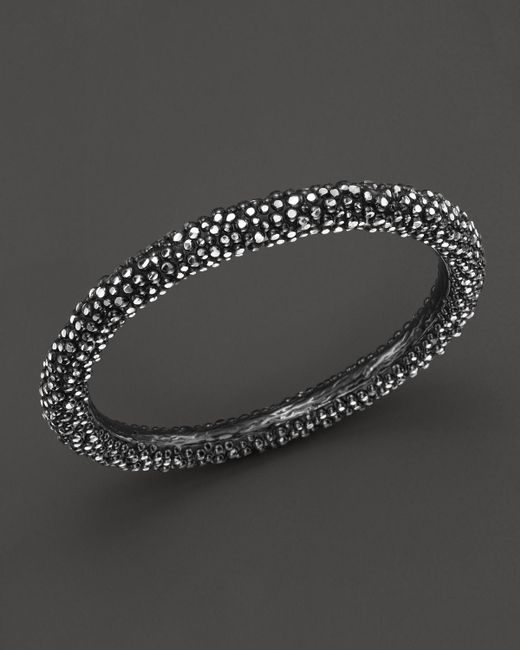 Roberto Coin | Metallic Ruthenium Plated Sterling Silver Stingray Bangle | Lyst