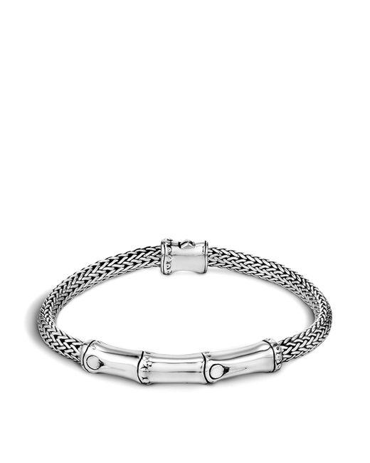 John Hardy | Metallic Sterling Silver Bamboo Station Bracelet | Lyst