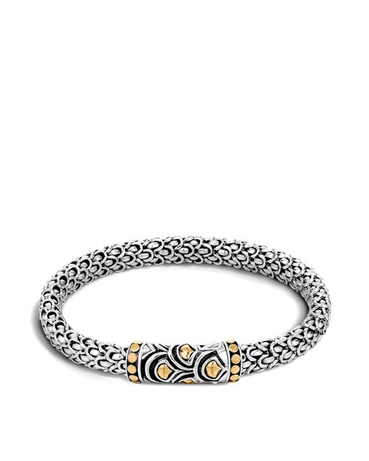 John Hardy | Metallic Sterling Silver And 18k Bonded Gold Naga Chain Bracelet | Lyst