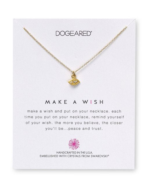 "Dogeared | Metallic Swarovski Crystal Make A Wish Evil Eye Necklace, 18"" - 100% Exclusive 