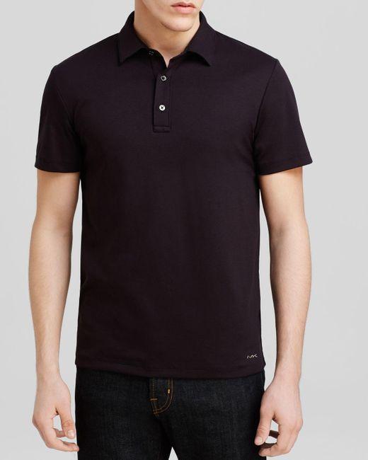 Michael Kors | Black Sleek Slim Fit Polo Shirt for Men | Lyst
