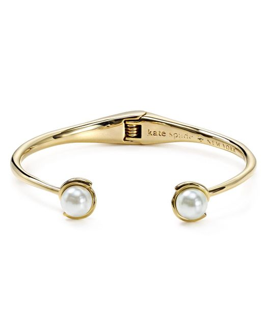 kate spade new york   Natural Dainty Sparklers Simulated Pearl Cuff   Lyst