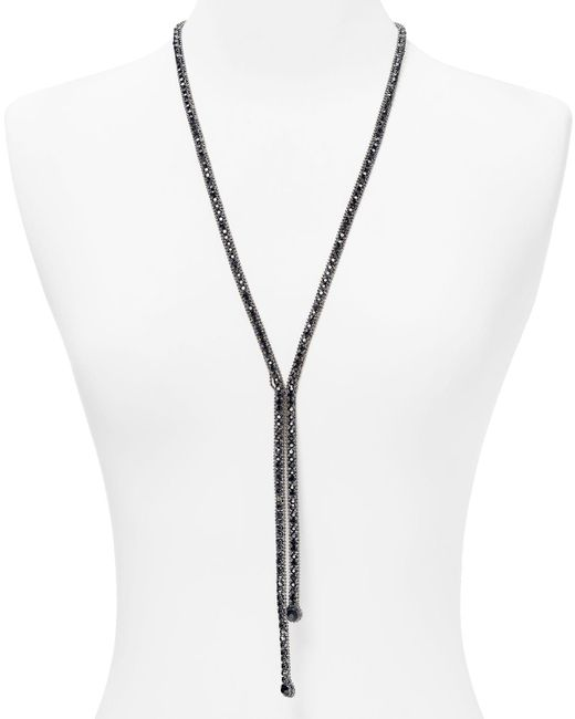 ABS By Allen Schwartz | Black Lariat Necklace, 26"