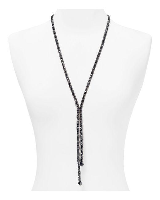 ABS By Allen Schwartz | Black Lariat Gemstone Necklace | Lyst