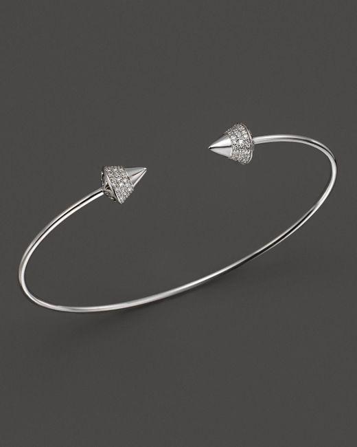 KC Designs | Metallic Diamond Studded Bracelet In 14k White Gold | Lyst