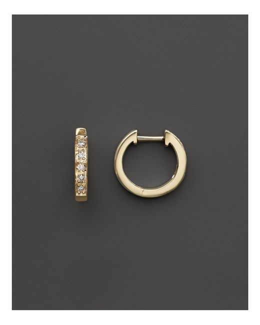 KC Designs | Metallic Diamond Mini Hoops In 14k Yellow Gold | Lyst