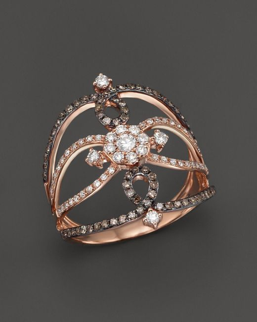 KC Designs | Pink Champagne And White Diamond Ring In 14k Rose Gold - 100% Exclusive | Lyst
