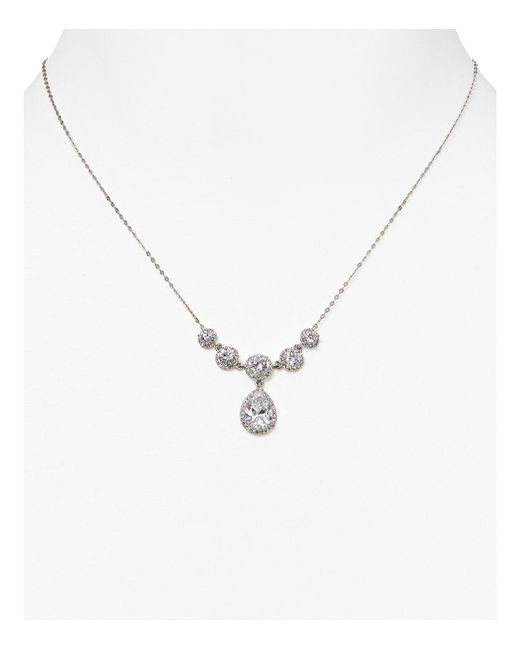 Nadri | Metallic Teardrop Necklace, 17.5"