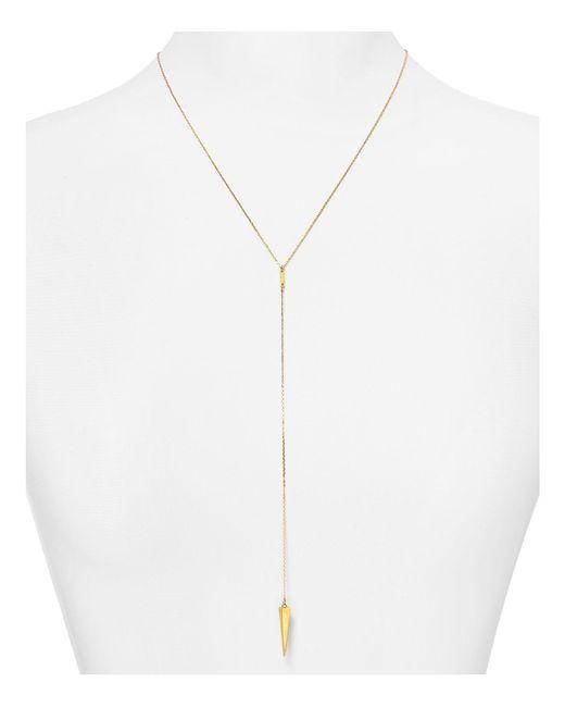 "BaubleBar | Metallic Pyramid Spike Y-chain Necklace, 20"" | Lyst"