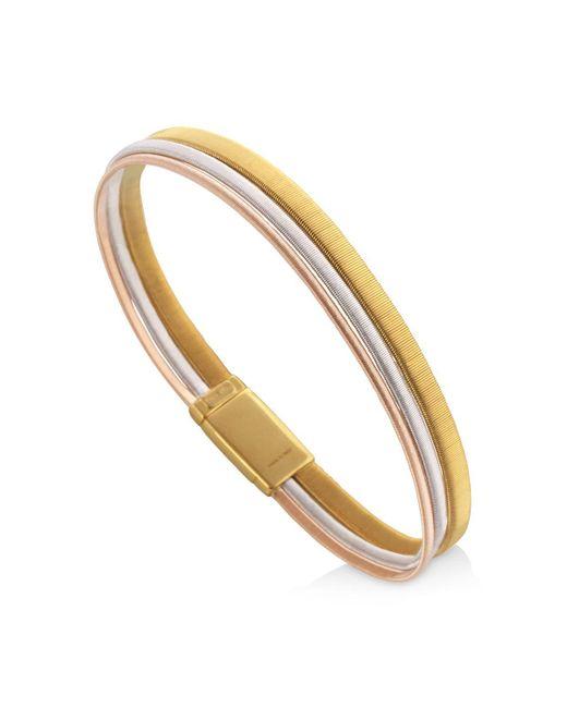 Marco Bicego | Metallic 18k Yellow, White & Rose Gold Goa Bracelet | Lyst