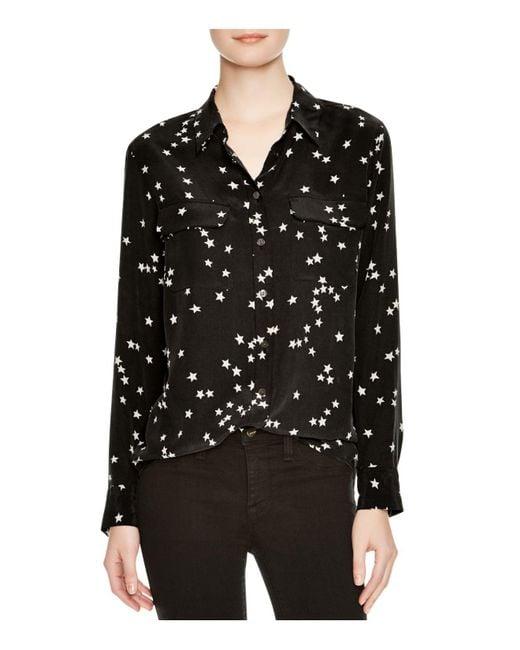 Equipment | Black Slim Signature Silk Shirt | Lyst