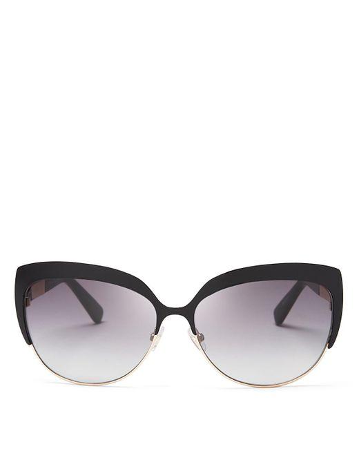 kate spade new york | Black Raelyn Cat Eye Sunglasses, 59mm | Lyst