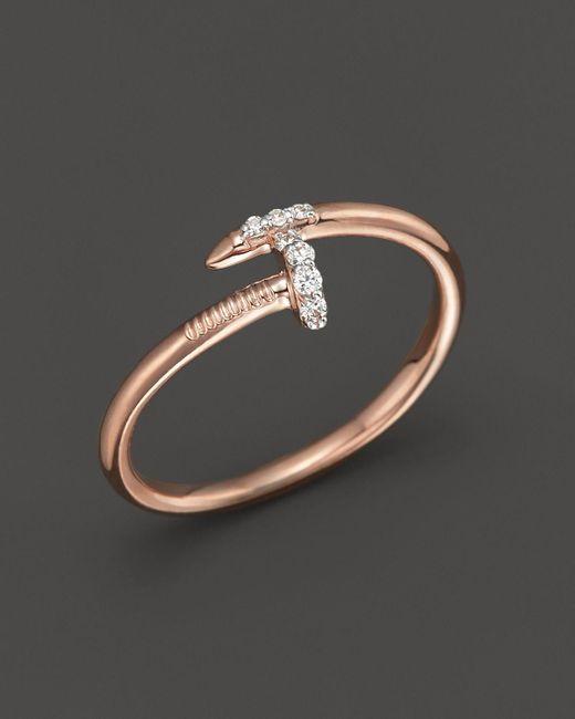 KC Designs | Pink Diamond Nail Ring In 14k Rose Gold, .06 Ct. T.w. | Lyst
