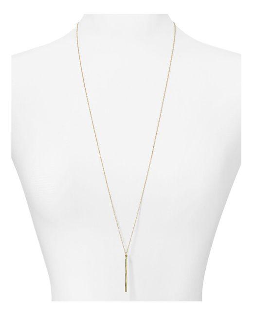 "Gorjana | Metallic Taner Dagger Pendant Necklace, 32"" | Lyst"