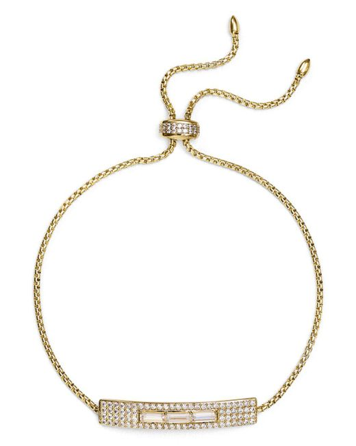 Nadri - Metallic Aura Pavé & Baguette Bolo Bracelet - Lyst