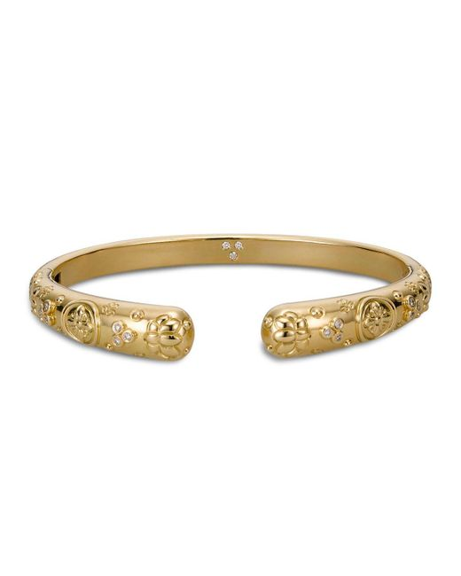 Temple St. Clair   Metallic 18k Yellow Gold Nomad Bella Cuff Bracelet With Diamonds   Lyst