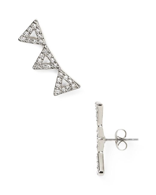 Rebecca Minkoff   Metallic Triangle Ear Climbers   Lyst
