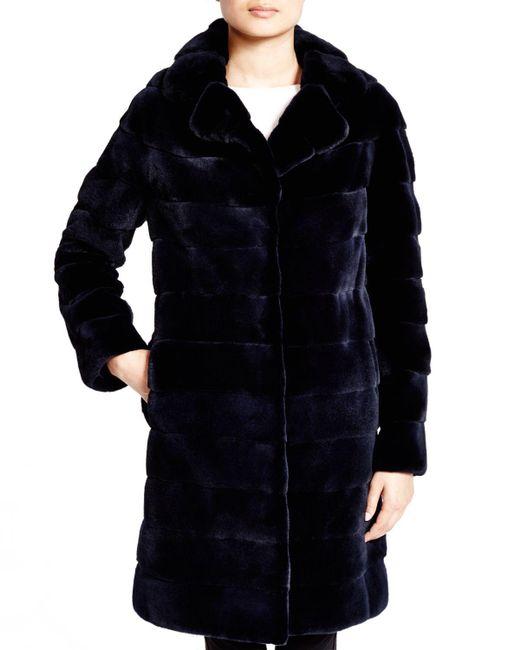 Maximilian | Blue Maximilian Mink Coat - 100% Exclusive | Lyst