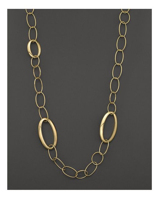 Ippolita | Metallic 18k Gold Glamazon All Mixed Link Necklace, 34.5"