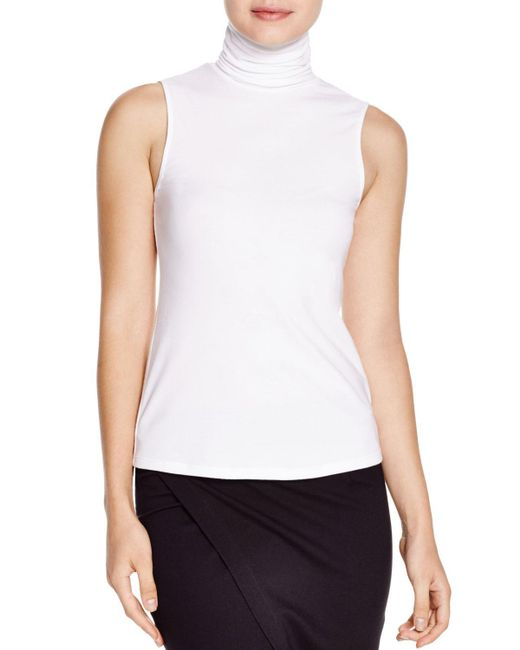 Theory   White Wendel Ribbed Turtleneck Top   Lyst