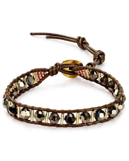 Chan Luu   Metallic Beaded Leather Bracelet   Lyst