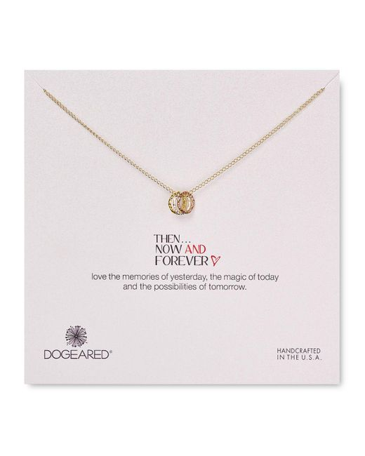 Dogeared | Metallic Then Now Forever Necklace, 18"