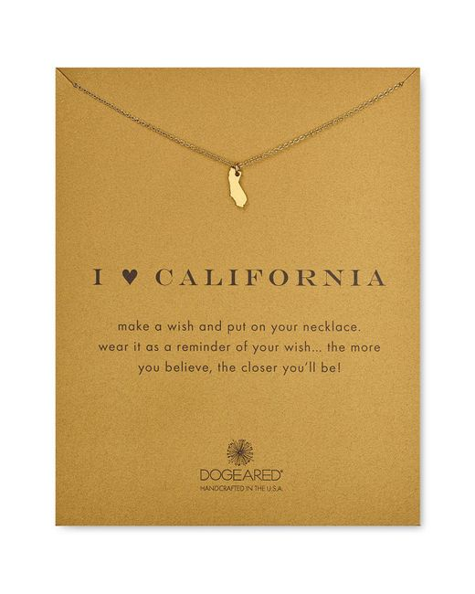 Dogeared | Metallic I Love California Necklace, 16"