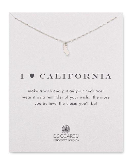 "Dogeared | Metallic I Love California Necklace, 16"" | Lyst"