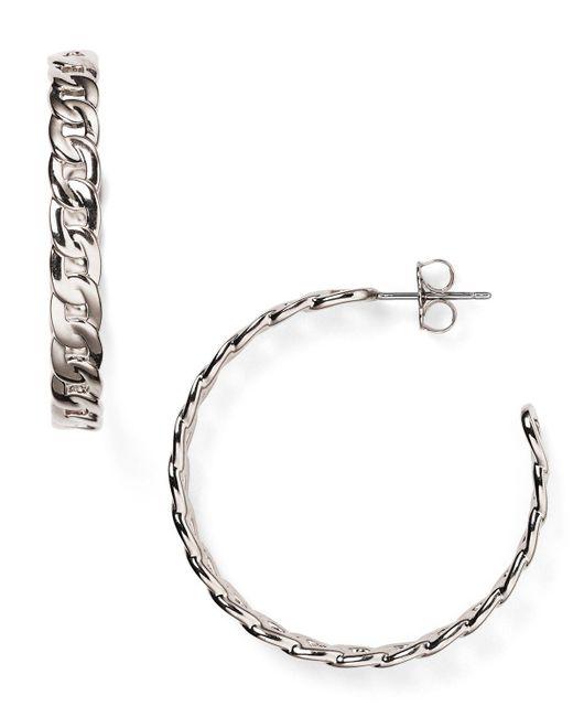 Nadri | Metallic Chain Hoop Earrings | Lyst