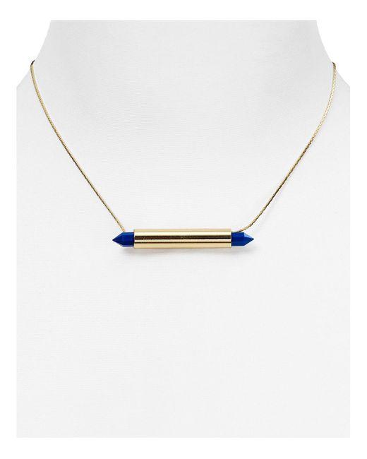 "Aqua   Blue Drake Stone Pendant Necklace, 16""   Lyst"