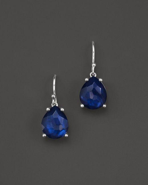 Ippolita   Blue Sterling Silver Wonderland Pear Drop Earrings In Midnight Doublet   Lyst