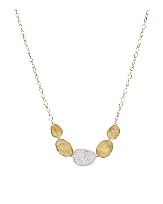 Marco Bicego | 18k White And Yellow Gold Lunaria Diamond Half Collar Necklace, 16.5"