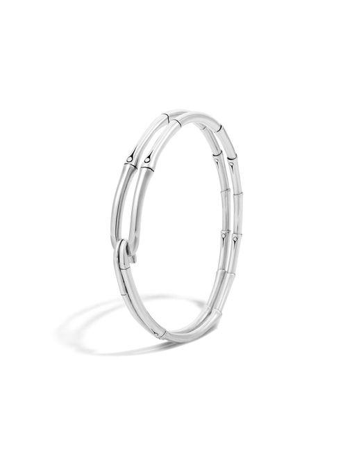 John Hardy | Metallic Bamboo Silver Hook Bracelet | Lyst