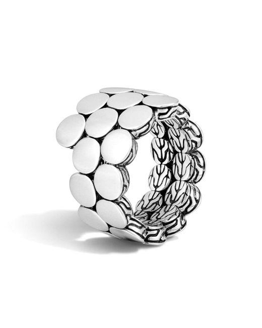 John Hardy | Metallic Dot Sterling Silver Double Coil Ring | Lyst