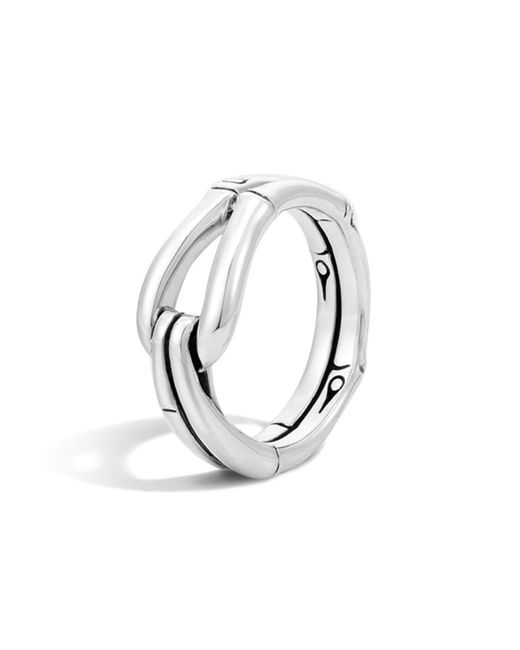 John Hardy   Metallic Bamboo Silver Hook Ring   Lyst