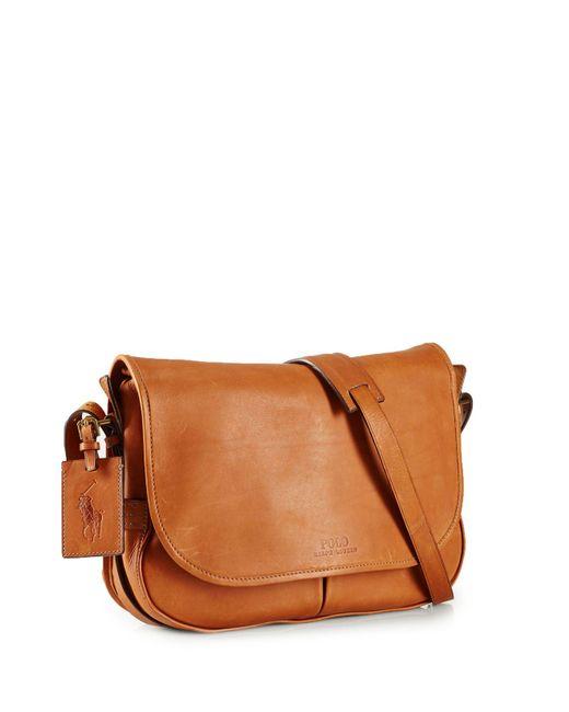Ralph Lauren | Brown Polo Core Leather Messenger Bag for Men | Lyst
