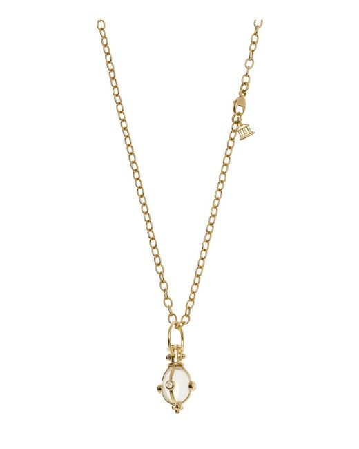 Temple St. Clair - Metallic 18k Classic Amulet Pendant With Oval Rock Crystal And Diamond - Lyst