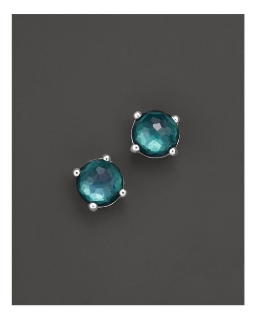 Ippolita | Metallic Rock Candy® Sterling Silver Wonderland Mini Stud Earrings In Kelly Doublet | Lyst