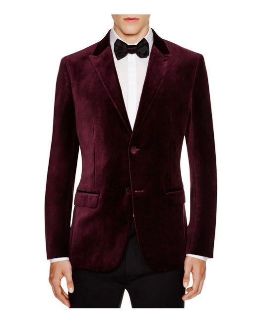 Theory | Purple Velvet Slim Fit Jacket for Men | Lyst
