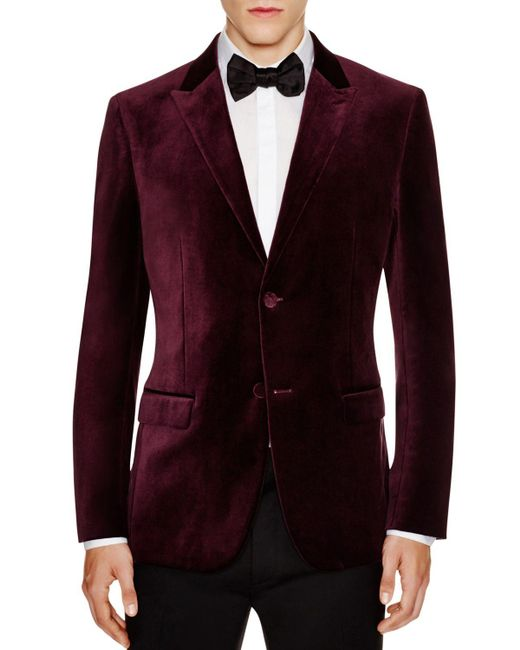 Theory | Purple Velvet Slim Fit Jacket for Men | Lyst