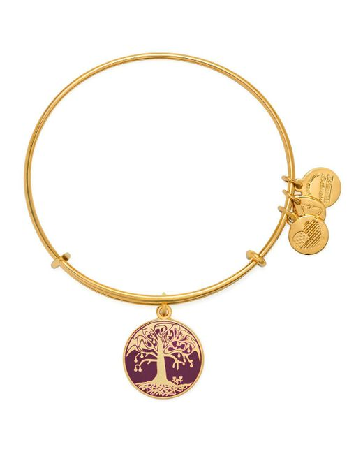 ALEX AND ANI | Metallic Tree Of Life Color Infusion Expandable Wire Bangle | Lyst