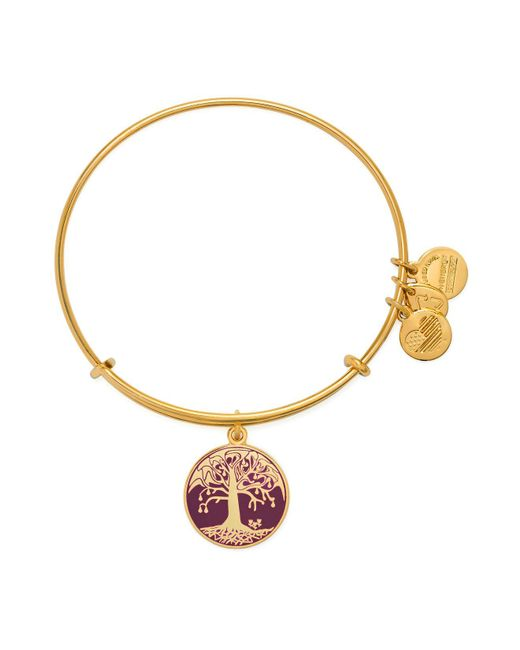 ALEX AND ANI   Metallic Tree Of Life Color Infusion Expandable Wire Bangle   Lyst