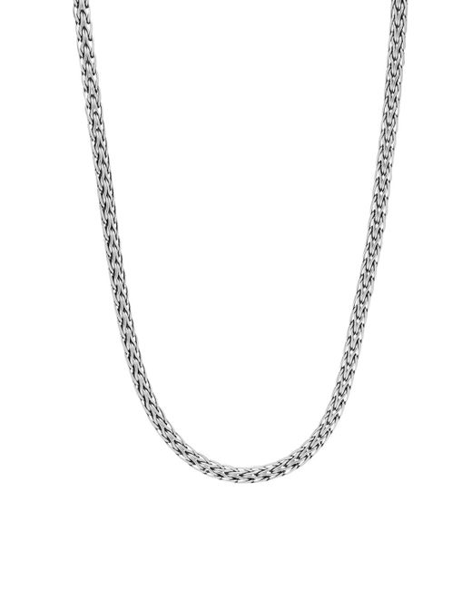 John Hardy | Metallic Sterling Silver Classic Chain Slim Necklace, 18"