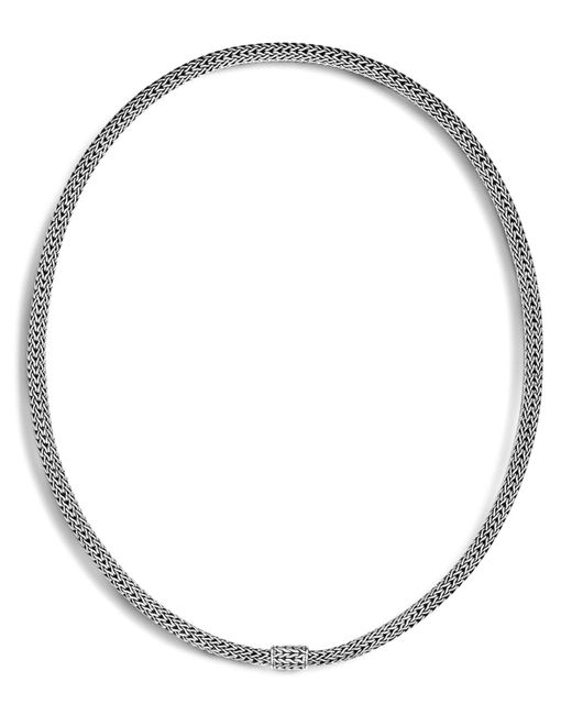 John Hardy | Metallic Sterling Silver Classic Chain Extra Small Necklace, 18"