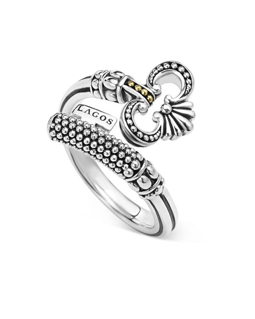 Lagos | Metallic Sterling Silver Skeleton Key Ring With 18k Gold | Lyst