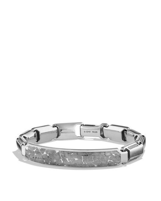 David Yurman   Metallic Fused Meteorite Id Bracelet   Lyst
