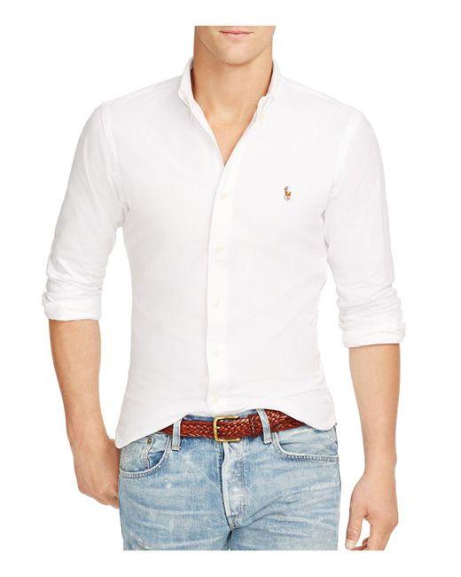Polo Ralph Lauren | White Slim-fit Stretch-oxford Shirt for Men | Lyst