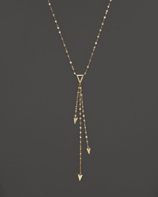 Lana Jewelry | Metallic 14k Yellow Gold Tri Vista Necklace, 16"