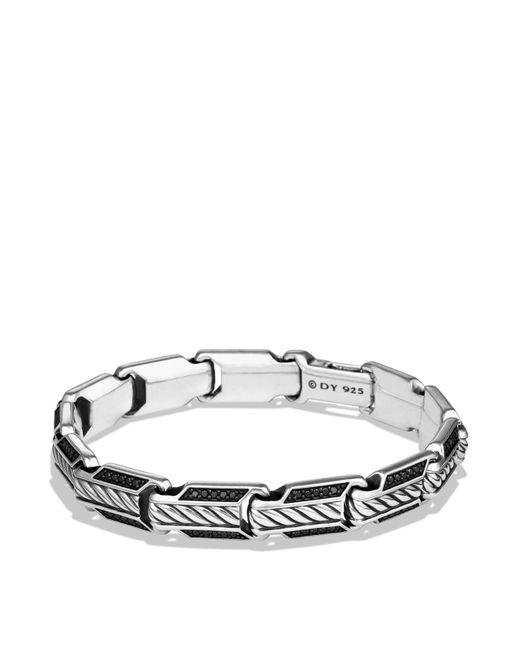 David Yurman | Metallic Cable Classics Chain Bracelet With Black Diamonds | Lyst